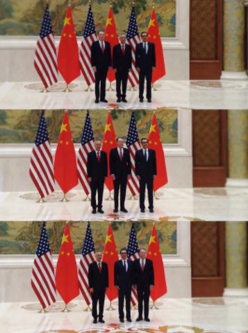中美高级别磋商又开始,牵头人合影为何照了三次?